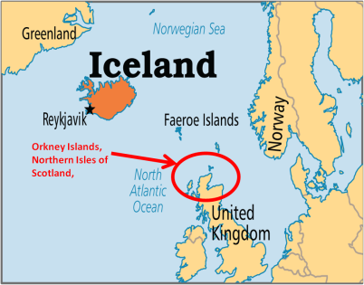 Orkney Islands - Map