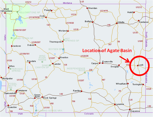 Location of Agate Basin